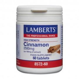 Lamberts Cinnamon 2500mg Κανέλλα 60 Ταμπλέτες