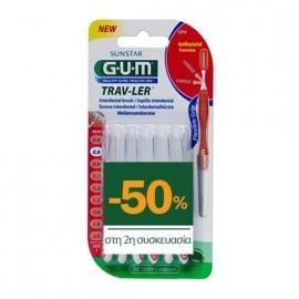 Gum 1314 Μεσοδόντια Trav-Ler Tapered 0,8mm 6τμχ 1+1 με -50% στο 2ο Προϊόν
