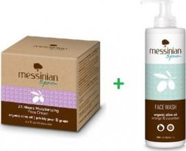 Messinian Spa Promo 24h Moisturizing Face Cream Oily/Combination 50ml & ΔΩΡΟ Καθαριστικό Προσώπου Πορτοκάλι Αγγούρι 300ml
