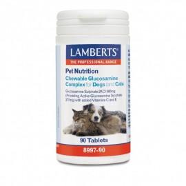 LAMLamberts Pet Nutrition Chewable Glucosamine Complex Cats & Dogs, Συμπληρωματική Ζωοτροφή για Σκύλους και Γάτες 90Τabs