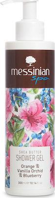 Messinian Spa Shower Gel, Αφρόλουτρο Πορτοκάλι & Βανίλια Ορχιδέα & Μύρτιλο 300ml