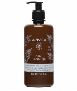 Apivita Pure Jasmine Shower gel with essential oils Eco Pack 500 ml