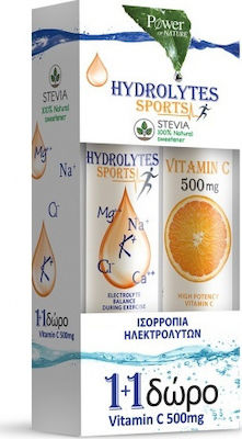 Power Health Hydrolytes Sports with Stevia & Vitamin C 500mg 20 + 20 αναβράζοντα δισκία