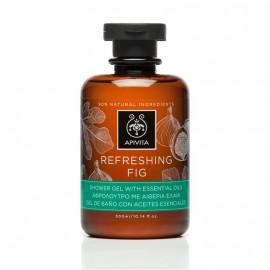 Apivita Refreshing Fig Shower Gel, Αφρόλουτρο με Αιθέρια Έλαια 300ml