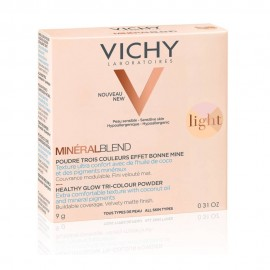 Vichy Mineralblend Healthy Glow Tri-Colour Powder Light, Τρίχρωμη Πούδρα για Φυσική Λάμψη 9gr