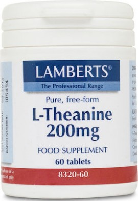 Lamberts L-Theanine 200mg 60 ταμπλέτες