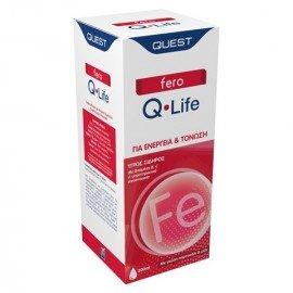 Quest Nutra Pharma Fero Q Life Υγρός Σίδηρος Πορτοκάλι & Μέλι 200ml