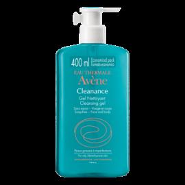 Avene Cleanance Gel Καθαρισμού Nettoyant, Καθαρισμός Προσώπου/Σώματος για Λιπαρά Δέρματα, 400ml