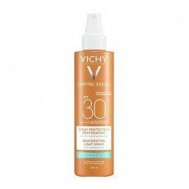 Vichy Capital Soleil Beach Protect Anti-Dehydration Spray SPF30, Αντηλιακό Σπρέι για Προστασία από το Αλάτι και το Χλώριο 200 ml