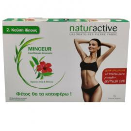 Naturactive Minceur Πράσινο Τσάι 100 mg & Ιβίσκος 100 mg 2x20 sachets