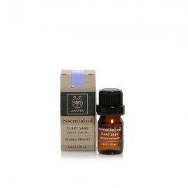 Apivita Essential oil Βιολογικό αιθέριο έλαιο Φασκόμηλο 5 ml