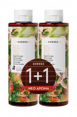 Korres Φυστίκι Αφρόλουτρο 250 ml 1+1 Δώρο