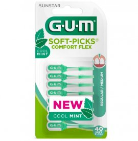 Gum 670 Soft Picks Comfort Flex Cool Mint Medium 40τμχ