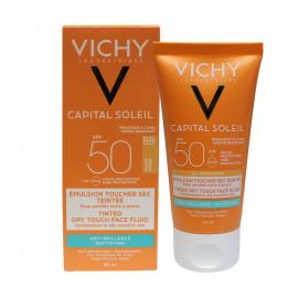 Vichy Capital Soleil Ματ Αποτέλεσμα με χρώμα SPF50 50ml