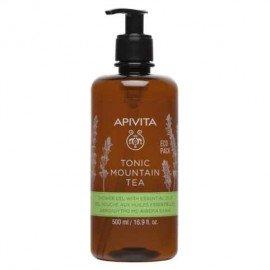Apivita Tonic Mountain Tea Shower Gel Αφρόλουτρο με Αιθέρια Έλαια 500ml