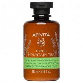 Apivita Tonic Mountain Tea Shower Gel, Αφρόλουτρο με Αιθέρια Έλαια 250ml