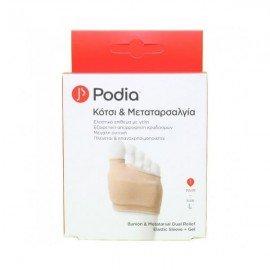 Podia Bunion & Metatarsal Dual Relief Elastic Sleeve Gel Large 1 pair