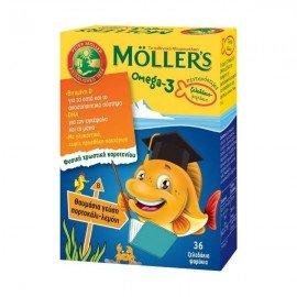 Mollers Omega-3 Kids 36 gummies orange - lemon