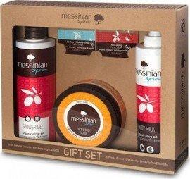 Messinian Spa Shower Gel Pomegranate + Body Milk + Face & Body Scrub