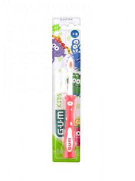 Gum 901 Kids Monsters Κόκκινη Παιδική Οδοντόβουρτσα 3-6 Ετών 1τμχ.