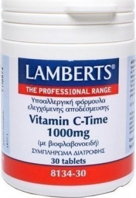 Lamberts Vitamin C 1000mg Time Release Βιταμίνη C Βραδείας Απελευθέρωσης 30 Tablets