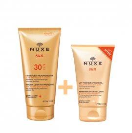 Nuxe Sun Lait Delicieux visage et corps SPF30 150 ml & Sun Lait Fraicheur Apres- Soleil 100 ml