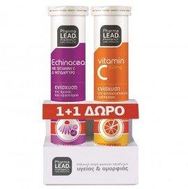 Pharmalead Promo Εχινάκεια Με Vitamin C & Ψευδάργυρο 20 Αναβράζοντα Δισκία & Vitamin C 550mg, 20 Αναβράζοντα Δισκία