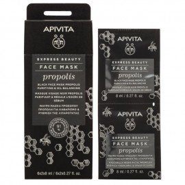 Apivita Express Beauty Black Face Mask Propolis 2x8ml