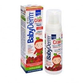 Intermed Babyderm Junior Cran Cleansing Foam Αφρός Καθαρισμού για την Ευαίσθητη Περιοχή, Αγόρια & Κορίτσια 0-6 Ετών 150ml