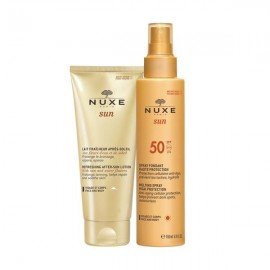 Nuxe Sun Spray Fondant Haute Protection SPF50 150 ml & Sun Lait Fraicheur Apres-Soleil 100 ml