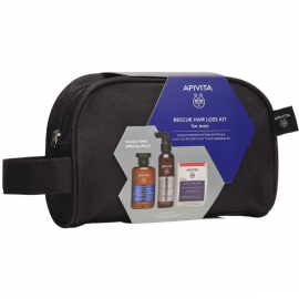 Apivita Rescue Hair Loss Kit for Men Tonic Shampoo 250 ml + Hair Loss Lotion 150 ml + Caps For Hair 30 caps