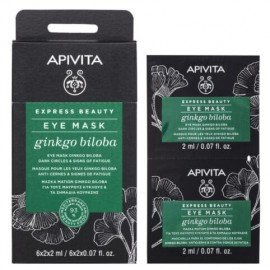 Apivita Express Beauty, Μάσκα Ματιών με Ginkgo Biloba για Μαύρους Κύκλους & Σημάδια Κούρασης 2x2ml