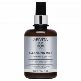Apivita Cleansink Milk 3 in 1 Face - Eyes chamomile & honey 300 ml