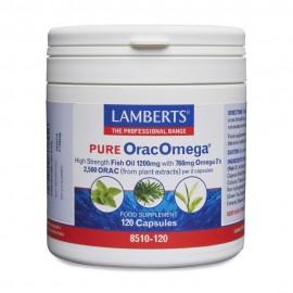 Lamberts Pure OracOmega 760mg Ωμέγα 3 λιπαρών οξέων & Φυτικά Αντιοξειδωτικά 120 Capsules