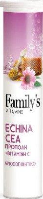 Power Health Familys Vitamins Echinacea Propolis & Vitamin C 20 Αναβράζοντα Δισκία