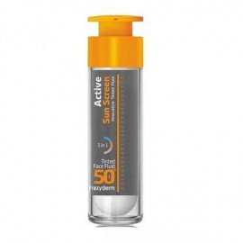 Frezyderm Active Sun Screen Tinted Face Fluid SPF50+ Ενεργή Έγχρωμη Αντηλιακή Κρέμα Προσώπου 50ml