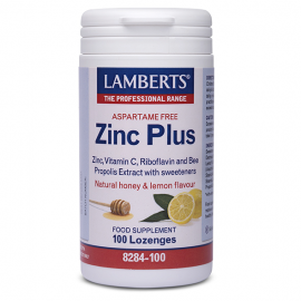 Lamberts Zinc Plus Lozenges Ψευδάργυρος με Βιταμίνη C 100 Καραμέλες