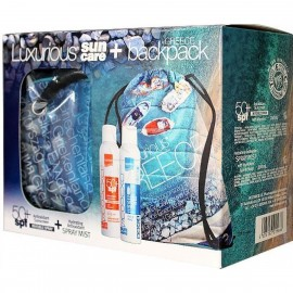 Intermed Luxurious Suncare Greece Πακέτο με Antioxidant Sunscreen SPF50+ Spray Αντιοξειδωτικό Αντιηλιακό με Βιταμίνη C, 200ml & Antioxidant Hydrating Spray Mist Ενυδατικό Νεφέλωμα με Υαλουρονικό Οξύ, 200ml & Summer Bag, 1τεμ