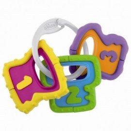 Chicco Soft Keys-Κρίκοι Οδοντοφυίας Μαλακά Κλειδιά 3m+