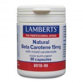 Lamberts Beta Carotene Natural 15mg β Καροτίνη 90 Κάψουλες