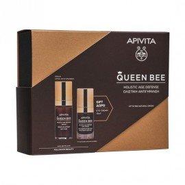 Apivita Queen Bee Holistic Age Defense Serum 30 ml & Δώρο Queen Bee Holistic Age Defense Eye Cream 15 ml