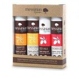 Messinian Spa Travel Kit No.1 (Shower Gel, Shampoo, Body Milk, Conditioner 4x55ml)