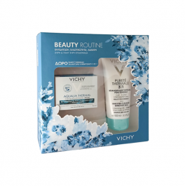Vichy Aqualia Thermal Rehydrating Cream-Rich Dry to Very Dry Skin 50 ml & Gift 3 in 1 Cleanser for Sensitive Skin 100 ml