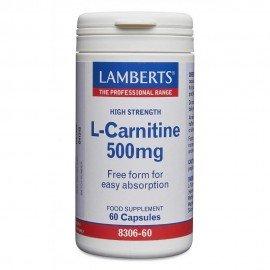 Lamberts L-Carnitine 500mg, Καρνιτίνη 60 Caps
