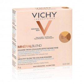 Vichy Mineralblend Healthy Glow Tri-Colour Powder Tan, Τρίχρωμη Πούδρα για Φυσική Λάμψη 9gr