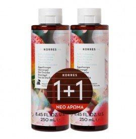 Korres Άνθη Ροδακινιάς Αφρόλουτρο 250 ml 1+1 Δώρο