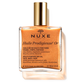Nuxe Huile Prodigieuse Or, Ξηρό Λάδι Ενυδάτωσης με Χρυσαφένια Λάμψη με Νέα Σύνθεση, 100ml