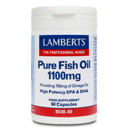 Lamberts Pure Fish Oil, Ω3 Λιπαρά Οξέα 1100mg 60Caps
