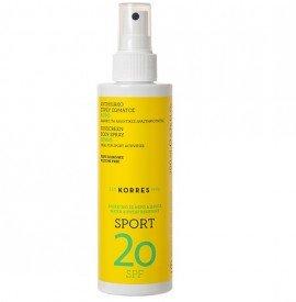 Korres Κίτρο Αντηλιακό Σπρέυ Σώματος Sport SPF20 200 ml