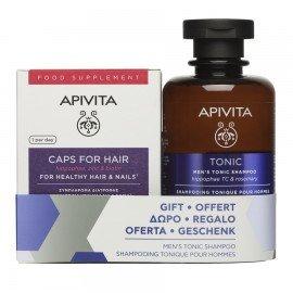 Apivita Promo Συμπλήρωμα Διατροφής Για Μαλλιά & Νύχια 30caps & ΔΩΡΟ Τονωτικό Ανδικό Σαμπουάν Κατά Της Τριχόπτωσης 250ml
